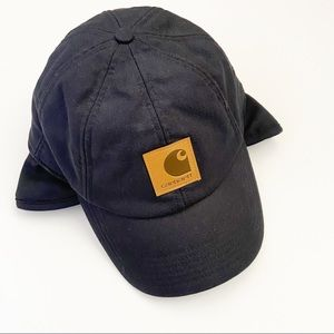 Carhartt Black Brimmed Hat with Side Flaps